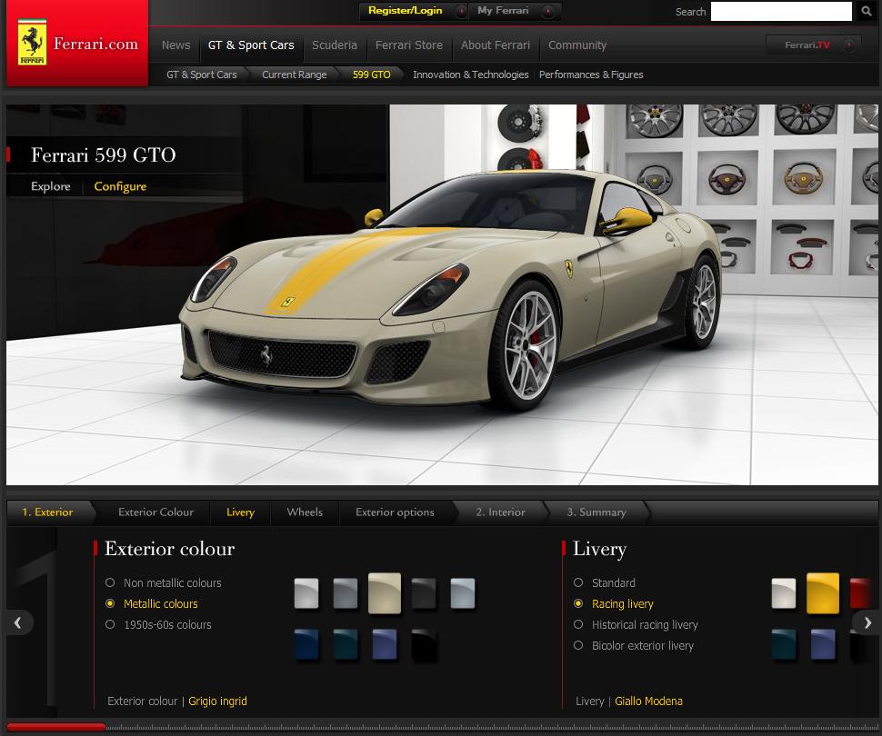 Ferrari Spider Online Configurator Legitlifestyle